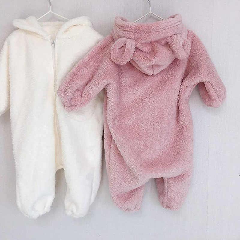 MILANCEL winter nieuwe baby rompertjes bear hood baby pak cartoon baby jongens jumpsuits baby outfit