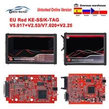 En línea KESS V2.53 V5.017 UE rojo 2020 con ECM de titanio KTAG V2.25 V7.020 Chip de maestro desbloqueado OBD OBD2 herramienta de programador ECU de coche