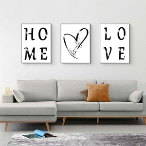 Scandinavian Style Family Love Poster Black and White Canvas Painting for Living Room Nordic Decoration Home Art