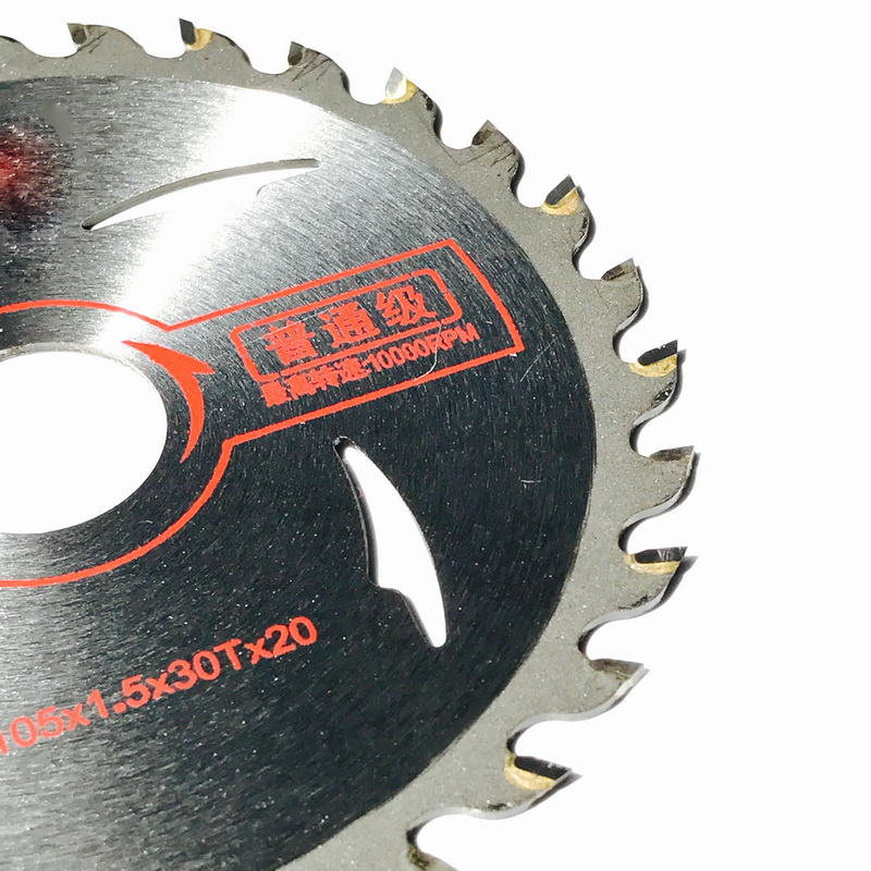 Купить с кэшбэком Free shipping of 1PC 105/110*20*30/40Z tct saw blade wood cutting disc metal saw for wood plastic steel iron general cutting