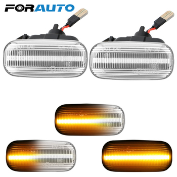 Pair LED Dynamic Flowing Side Marker Signal Light Amber For Audi A3 S3 8L A8 TT