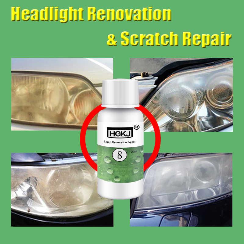 HGKJ 20ML Auto do czyszczenia okien środek do czyszczenia szkła reflektor naprawa remont płyn biały reflektor naprawa akcesoriów samochodowych TSLM1