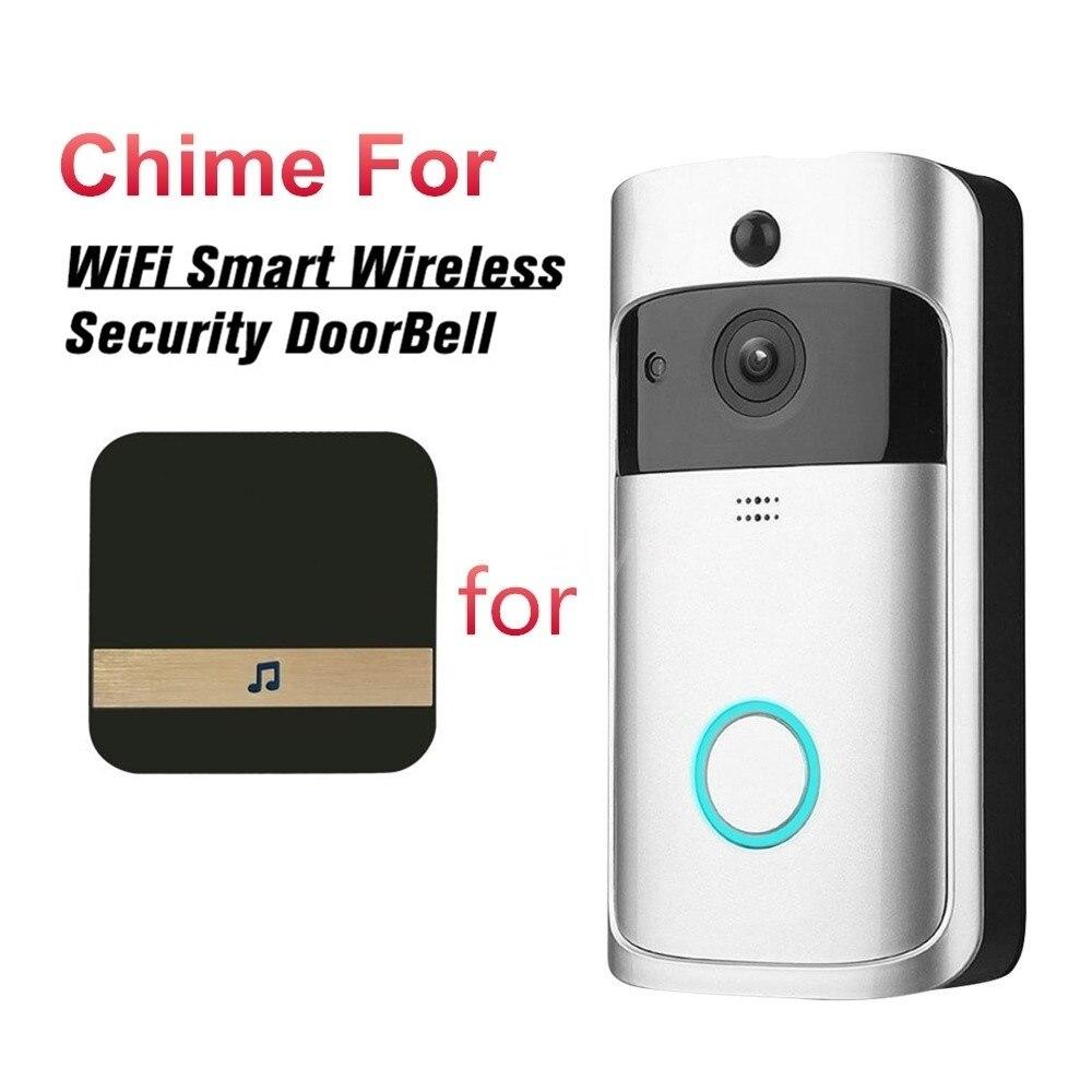 Image 2 - AC 110 220V Smart Indoor Doorbell Wireless WiFi Door Bell US EU UK AU Plug XSH app For EKEN V5 V6 V7 M3-in Doorbell from Security & Protection