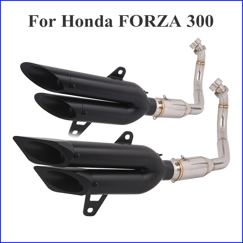 Motorcycle Exhaust Muffler-Escape Honda Pipe Slip-On Forza 300 Connect Modified-Link