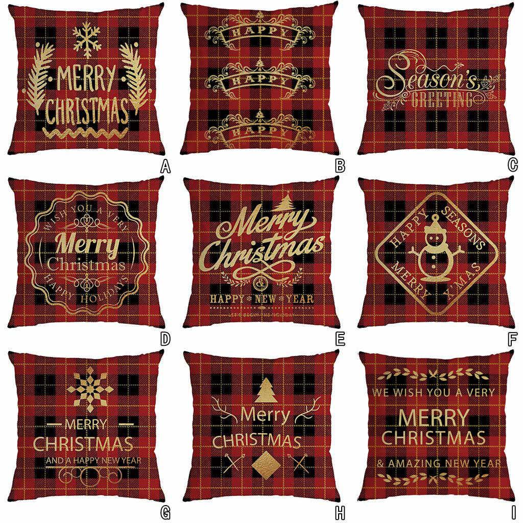 عيد الميلاد وسادة غطاء سادات ديكور أريكة غطاء الوسادة 45x45 سنتيمتر وسادة غطاء جديد سنوات عشية لوازم الحفلات سانتا 2020 64P