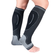 1pc Lower Leg Sleeve Cover Long Breathable Knitted Ankle Compression Protector Outdoor Sports Accessories