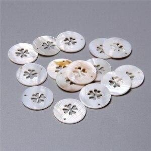 2-5 шт кулон в виде раковины клевера 25 мм круглый кулон из жемчуга для самостоятельного изготовления женских украшений