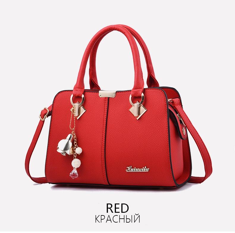 Designer Brand Bags Ladies Leather Tote Bag 2020 Luxury Ladies Handbag Wallet Fashion Shoulder Bag 6