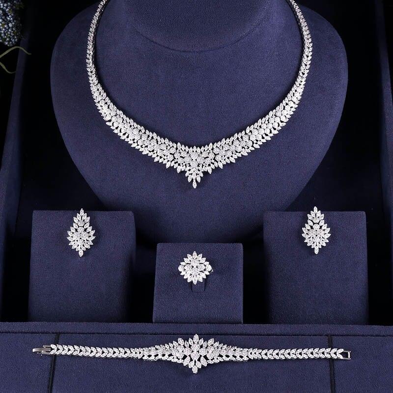 jankelly Hotsale Nigeria 4pcs Bridal Jewelry Sets New Fashion Dubai Full Jewelry Set For Women Wedding jankelly Hotsale Nigeria 4pcs Bridal Jewelry Sets New Fashion Dubai Full Jewelry Set For Women Wedding Party Accessories Design