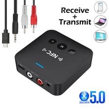 Bluetooth 5.0 Ontvanger Zender Batterij Tf Card Stereo 3.5Mm Jack Aux Rca Draadloze Bluetooth Audio Adapter Voor Tv Pc auto Kit