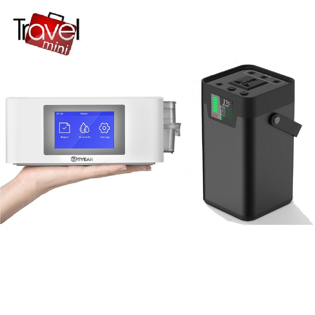 Портативный мини аппарат для путешествий MOYEAH CPAP, аппарат для вентиляции CPAP с назальной маской для апноэ во сне, 16 ГБ, карта Micro SD