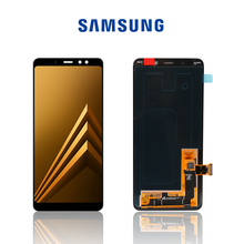 جديد الأصلي عرض شاشة LCD لسامسونج غالاكسي A8 زائد 2018 LCD A730 A8 2018 LCD A530 عرض تعمل باللمس قطع غيار محول رقمي