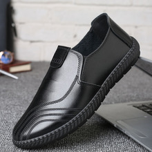 купить Whoholl Big Size Men Genuine Leather Shoes Slip On Black Shoes Real Leather Loafers Mens Moccasins Shoes Italian Designer Shoes онлайн