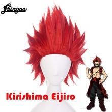 Cosplay Wig Anime Ebingoo-Short Synthetic-Hair Academia Red Halloween-Costume Boku Kirishima