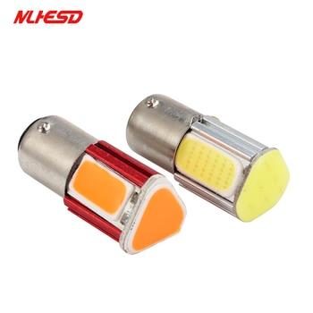 2pcs Car Led Bulbs P21w Bay15d Ba15s P21 1156 1157 LED COB 12V Auto Brake Light White Red Rear Turn Signal Lamp Parking Light