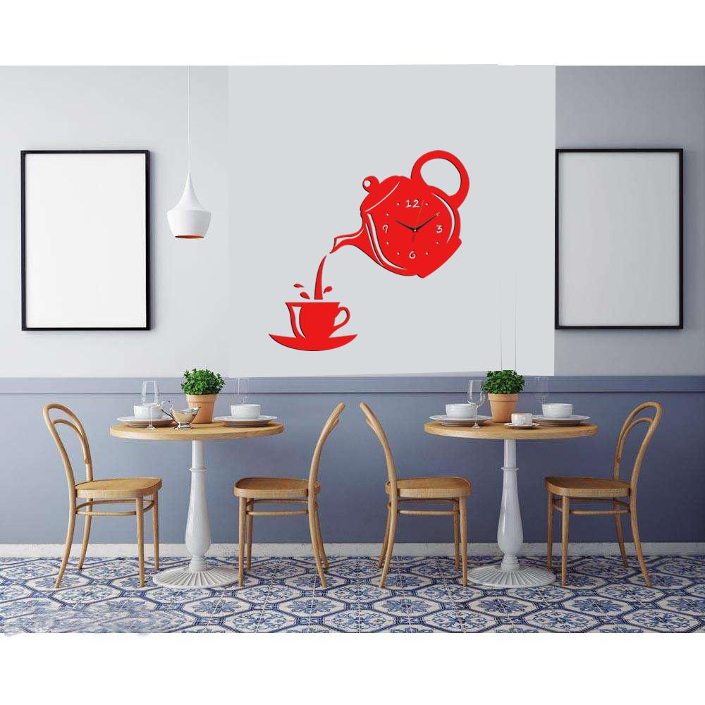 Acrylic Teapot Home Decor Wall Clock Free Shipping