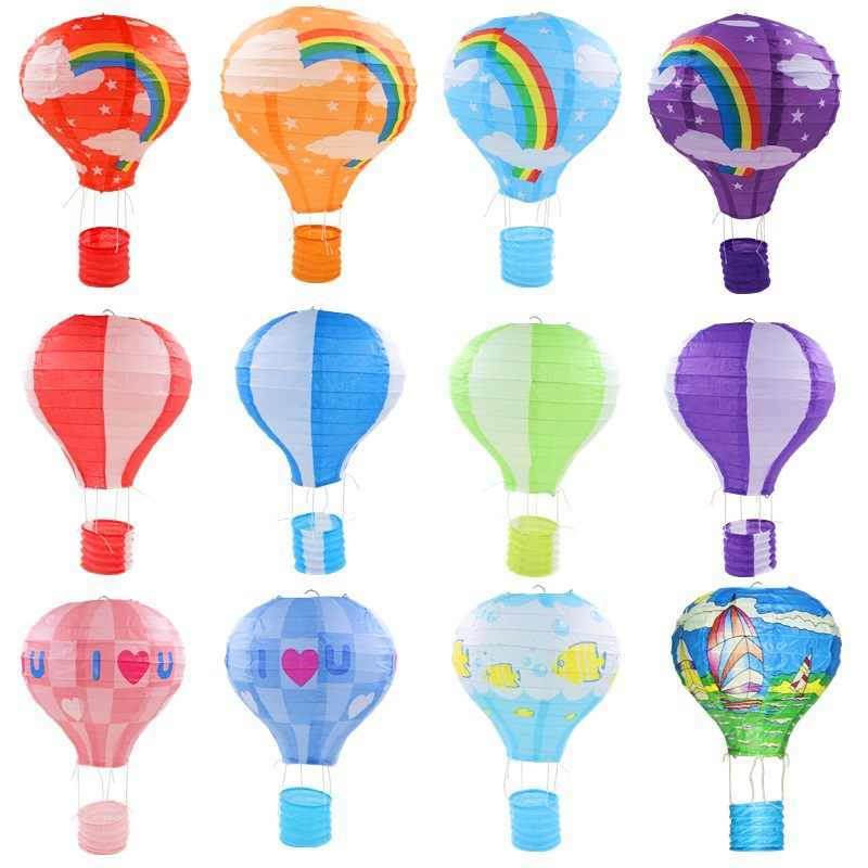 30cm Hot Air Balloon Paper Lantern Wedding Festival Party Hanging Home Decor