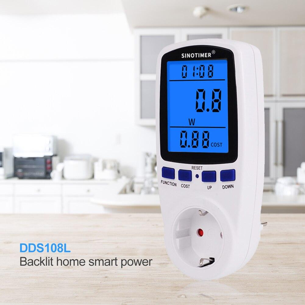 230V AC ue numérique LCD compteur de puissance wattmètre prise puissance Kwh compteur dénergie FR US royaume-uni AU BR mesure prise analyseur de puissance