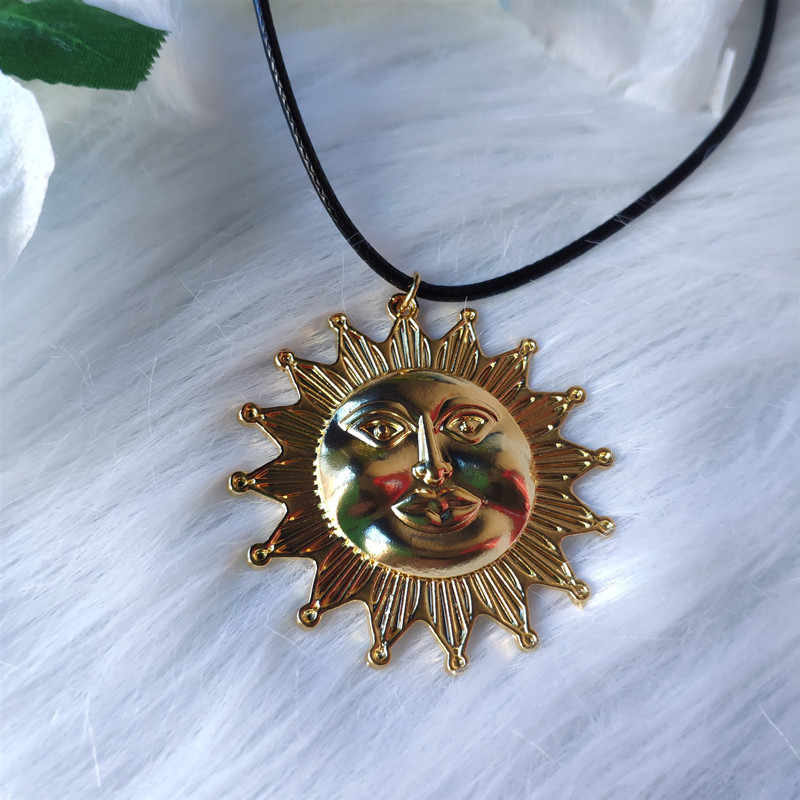 Valentines Day Gift Celestial Jewelry Gold Sun Necklace Cubic Zirconia Sun Necklace L1-39 Layering Necklace Best Friend Gift