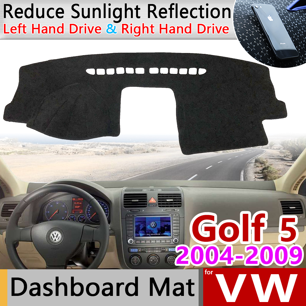 for Volkswagen VW Golf 5 MK5 2004 2009 1K Anti-Slip Mat Dashboard Cover Pad SunShade Dashmat Carpet Accessories 2005 2006 2008
