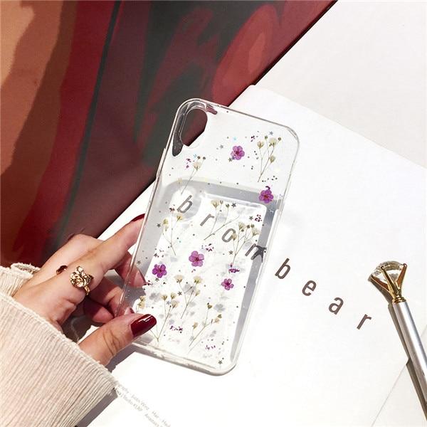 Qianliyao настоящие сушеные цветы прозрачный, мягкий чехол для iphone X 6 6S 7 8 Plus 11 Pro Max чехол для телефона для iphone XR XS Max чехол - Цвет: 2