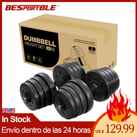 A Pair of 30kg Dumbbell Weight Set Adjustable Solid Fitness Dumbbell Set Safety Non slip Dumbbells Gym Exercise Training Tools