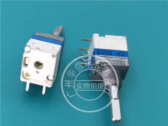 Оригинальный новый 100% 09 Тип одиночный с переключателем ступенчатый потенциометр B20K длина вала 17 мм x 3 мм