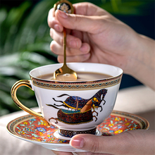 цена на High quality Bone China Coffee Cup and Saucer Set Advanced Royal Classical Afternoon Tea Cups Ceramic Milk cup Espresso Cup