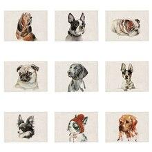 Coaster Dining-Table Living-Room Placemat Dog-Decoration Labrador Pet-Dog Square Dalmatian