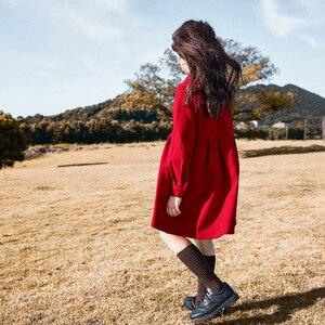 Image 5 - Robe dautomne pour filles, tenue de princesse tricotée, en coton, à col roulé, pour enfants, superbe collection 2020, #5673