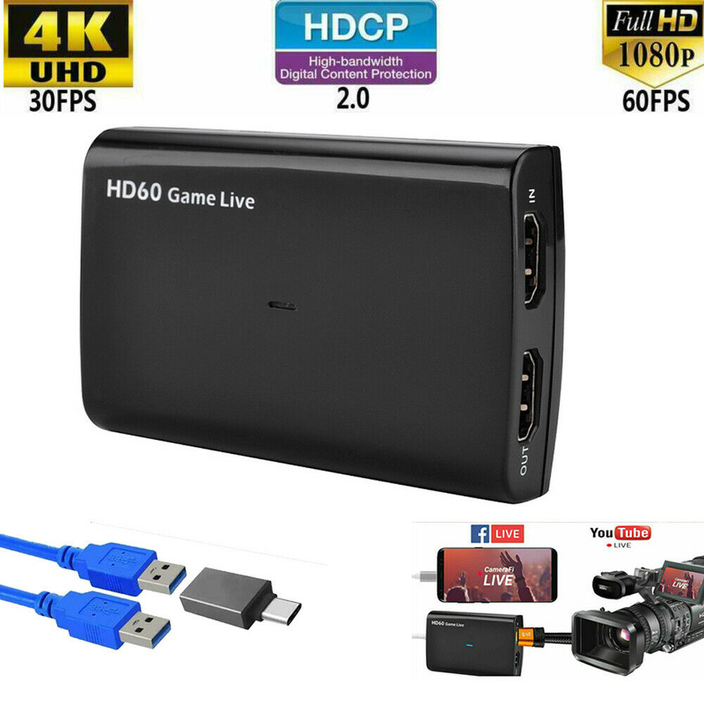 For EZCAP 266 HDMI Video Capture Box With MIC Support HDCP For Youtube Xbox Hitbox For PS3 Live Streaming Capture Device