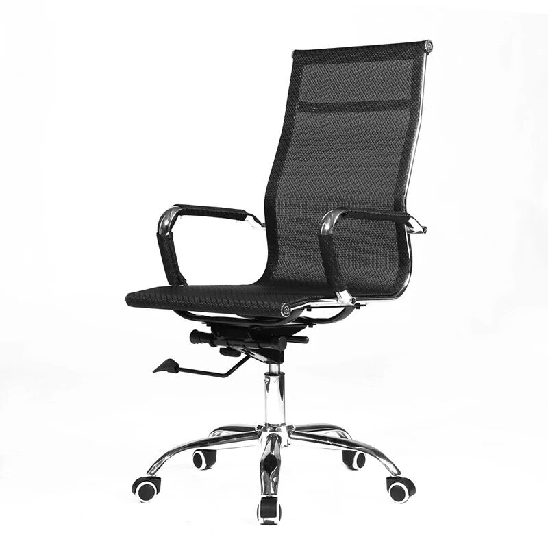 Office Chair Computer Chair Fixed Armrest Bow Conference Chair Staff Chair Lift Swivel Chair Home Breathable Mesh Chair