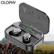 Bluetooth наушники беспроводные с зарядным устройством в ухо