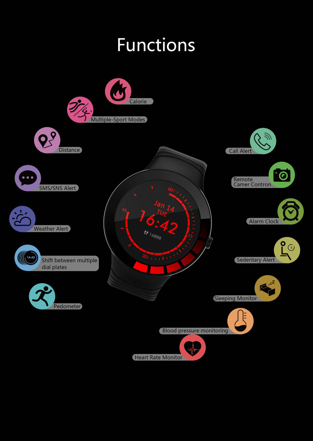 E3 Smart Watch men Weather display Smartwatch Waterproof IP68 Sports Watch Heart rate blood pressure blood oxygen health tracker