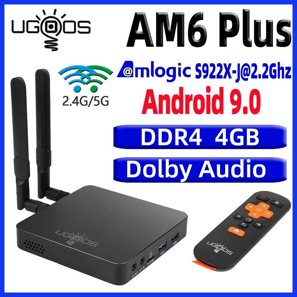 UGOOS AM6 Plus TV BOX Android 9.0 Smart tv box AM6 pro S922X DDR4 4GB RAM 32GB Dual WiFi 1000M BT5.0 4K Media Player AM6 2G 16G(China)
