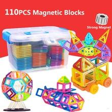 110 шт DIY Магнитный дизайнерский Строительный набор магнитные строительные блоки моделирование строительные игрушки для детей Подарки