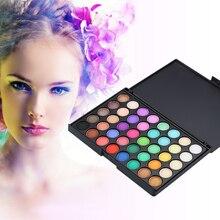 40 цветов прессованные блестящие матовые тени для век Палитра водостойкие стойкие пигментные матовые тени для век косметическая палитра для макияжа TSLM2