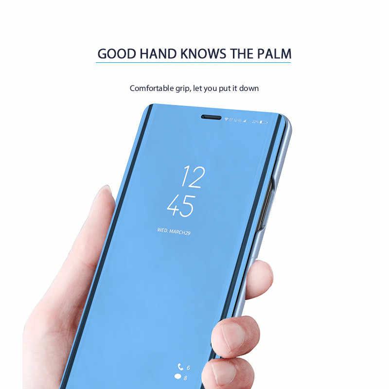 Para Huawei Mate 20 10 Pro P Smart 2019 espejo claro 360 Flip soporte caso P20 Pro lite funda