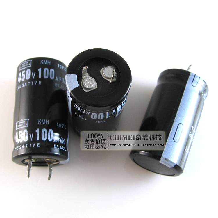 Free Delivery. Electrolytic capacitor 100 uf 450 v <font><b>30</b></font> mm size <font><b>25</b></font> * <font><b>25</b></font> x30mm capacitor image