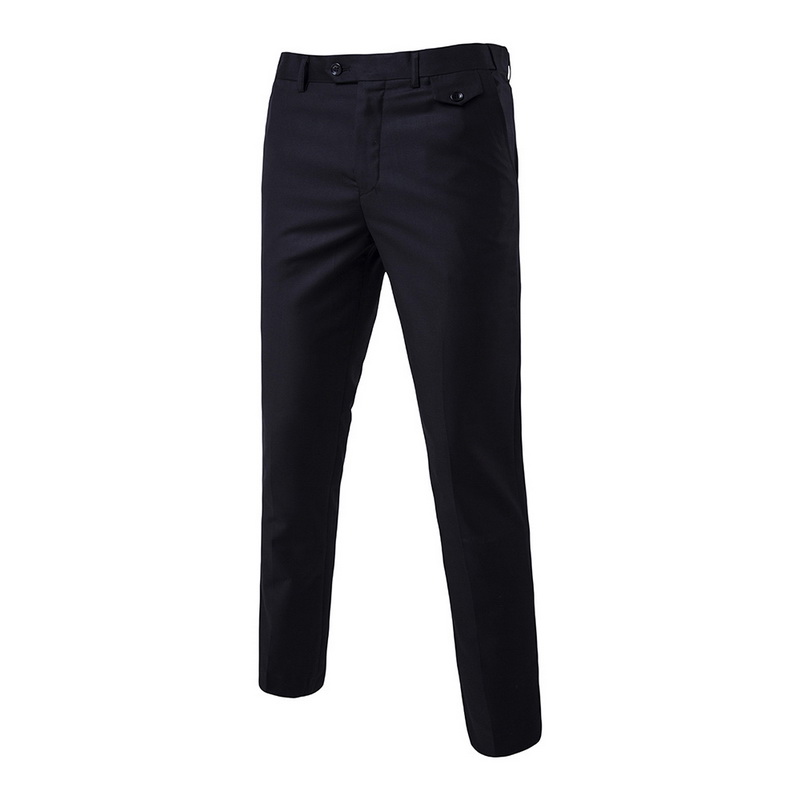 DIHOPE Pants Mens Trousers Business-Suit Wedding-Dress Spring Cotton New Groom Solid-Color title=