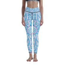 Штаны для йоги с 3d принтом женские спортивные штаны высокой