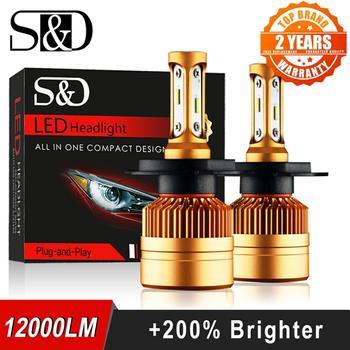 2Pcs H4 LED H7 H11 H8 9006 HB4 H1 H3 HB3 H9 H27 Car Headlight Bulbs LED Lamp with 1515 Chips 12000LM Auto Fog Lights 6000K 12V txvso8 2pcs h7 led headlight 6000k 50w h4 h1 h11 9005 hb3 10000lm csp chips auto fog lamp bulbs car accessories 12v super brgiht