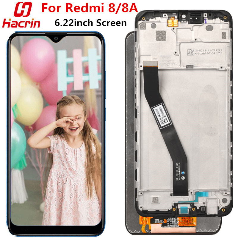 For <font><b>Xiaomi</b></font> <font><b>Redmi</b></font> <font><b>8</b></font> 8A LCD <font><b>Display</b></font>+Touch Screen with frame No Dead Pixel lcd screen Replacement for <font><b>Xiaomi</b></font> <font><b>Redmi</b></font> 8A 6.22inch image