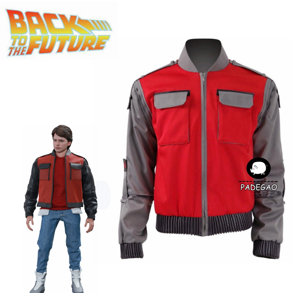 Back To The Future Cosplay Costume Jr Marlene Seamus Marty McFly High-quality Jacket Orange Outwear Coat Made Any Size