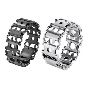 29 in 1 Multi Tool Bracelet Tread Bracelet Stainless Steel Outdoor Bolt Driver Tools Kit Travel Wearable Camping Emergency Kits