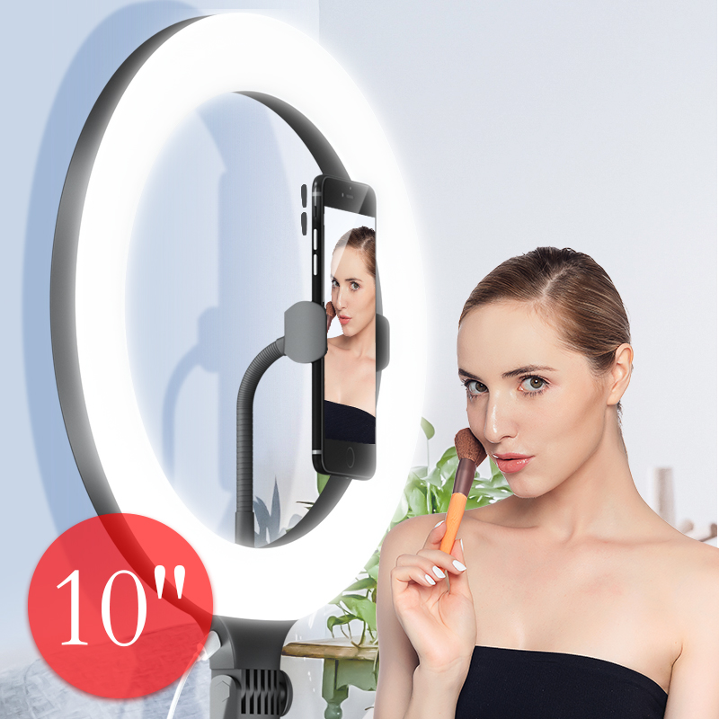 Portable 10W 8 inch 10 inch lamp Ring Light Tripod Stand For Selfie Pictures YouTube Videos Makeup LED Ring Light 10 Brightness