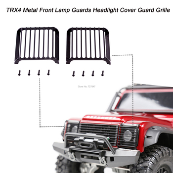 2PCS TRX4 Metal Front Lamp Guards Headlight Cover Guard Grille for 1/10 1:10 RC Crawler Car Traxxas TRX-4 image