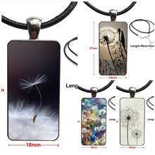 Flower Dandelion Butterflies Quality Glass Pendant Galaxy Pendant Necklace Women Steel Plated Necklaces Jewelry For Women(China)