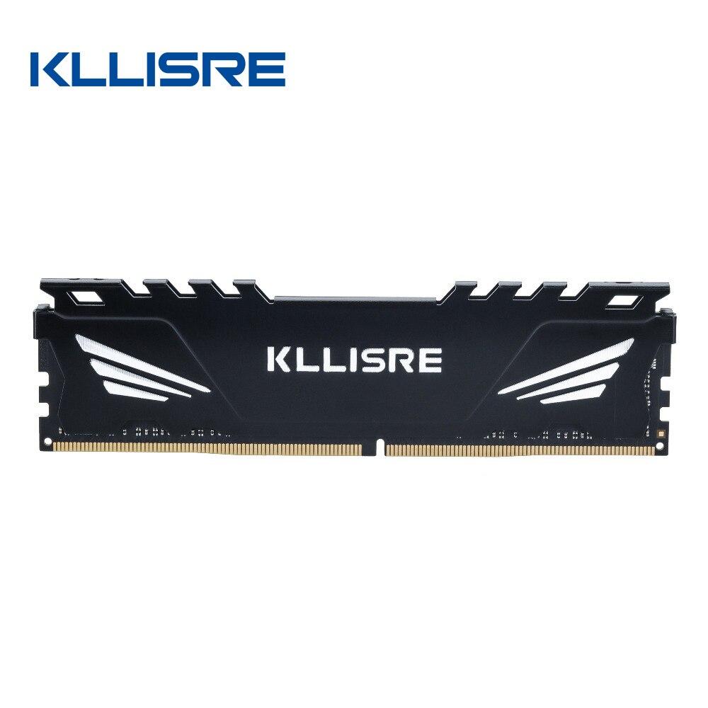 Kllisre DDR3 DDR4 4 Gb 8 Gb 16 Gb Memoria Ram 1333 1600 1866 2133 2400 2666 Geheugen Desktop Dimm met Koellichaam