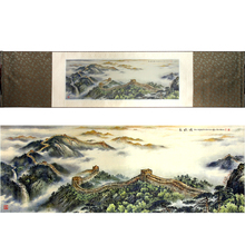 ShaoFu Silk Bookmarks Painting Art Printing Great Wall Picture Business Collection 120*32 Size Realist Gifts